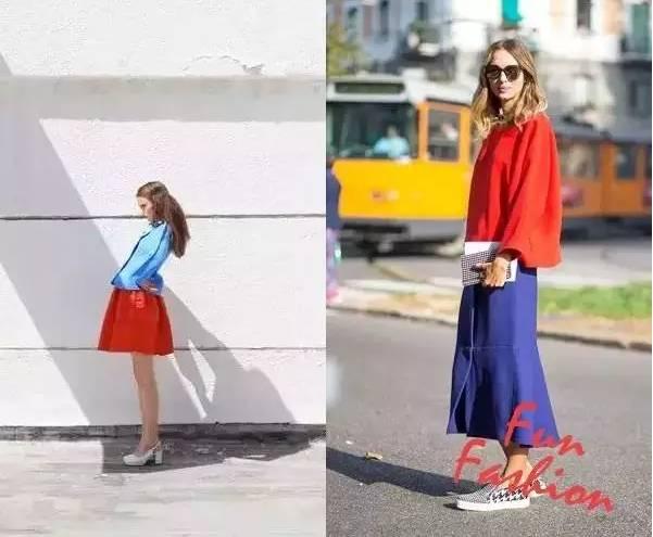 夏天这两种颜色穿在一起,看起来很高级!